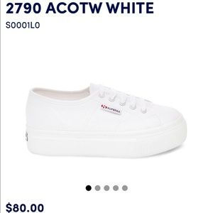 Superga 2790 ACOTW white platforms